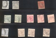 Barbados 1852/1970 - A small collection on stock cards