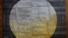 Moon Map Dr. F. Holzel - Moon landing 1968