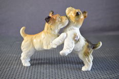 Karl Ens Volkstedt - Dogs figurine