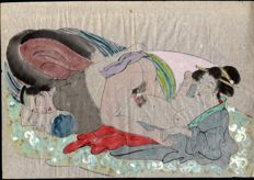 Shunga print – Japan – 19th century