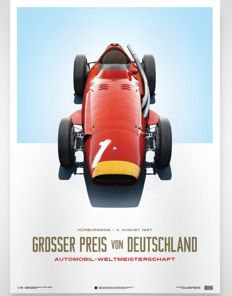 Limited  Edition. Maserati 250F - Collection of fine art prints - Nürburgring 4 august 1957 - The German Grand Prix