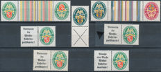German Empire, arms, combinations from stamp booklets