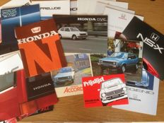 Honda - collection of 36 brochures & 8 price lists-1969/90 's
