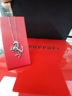 Ferrari 925 Silver Pendant with Steel Chain