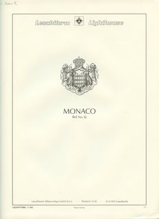 Monaco - 1885/1944 - Incomplete collection - mounted on Leuchtturm sheets.