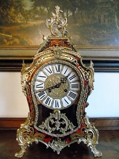 Large red inlaid Boulle clock – Franz Hermle – from 1974