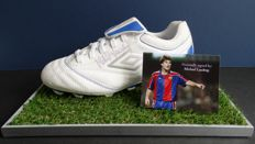 Michael Laudrup original signed Umbro soccer shoe + Certificate of Authenticity