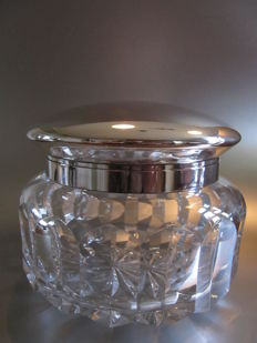 Theodore Müller (1863-1940) - Weimar / Margraf & Co. -  800 silver & Crystal XXL Cookie Jar