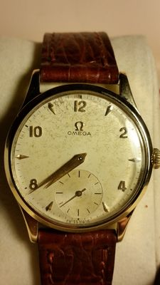 Extremely rare solid gold Omega watch - 1950s