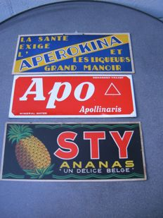 Sty, Aperokine & Apollinaris - from the 40s/50s/60s