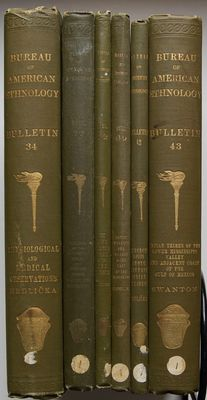 Bulletins Bureau of American Ethnology - Lot with 6 volumes on American Indians  - 1908 / 1922