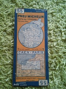 A collection of 10 Pneu Michelin Travel Map of French regions - 1930's