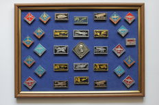 RUSSIA/USSR. History of Russian Aviation. Collection of 31 icons in a frame