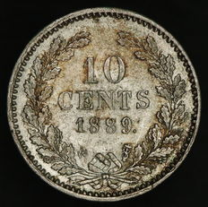 The Netherlands - 10 cents 1889 Willem III - silver