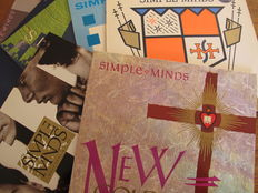 Nice Lot with 8 great Albums of The Simple Minds + Biografy