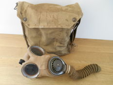 British gas mask in bag of Siebe Gorman & Co from WWII