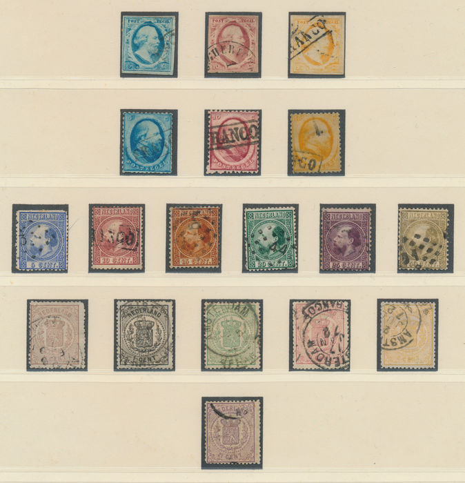 The Netherlands 1852/1934 - Collection including perforation variations on cards