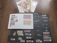 Belgium and areas – Batch on stock cards, loose and in stockbook