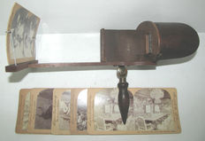 Old stereoscope/Perfecscope Viewer to see photographs in relief - 3D. 19th century - made in USA