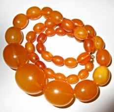 Antique Butterscotch 100% Natural Baltic Amber necklace - 36 grams
