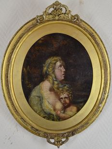 Unknown (18th century) - Mother with young child suckling