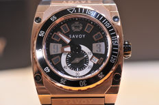 Savoy Icon Extreme Brown Limited Edition- Goudvergulde kast - Herenhorloge-Ongedragen-Nieuwstaat 640-2017