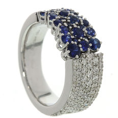 Chimento - White gold Ring with Diamond and Sapphire