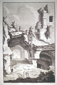 Bonaventura van Overbeek (around 1660-1706) - View on the Colosseum from: Reliquiae antiquae urbis Romae - 1708