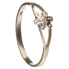 White gold ring set with one brilliant cut diamond of approx. 0.005 ct