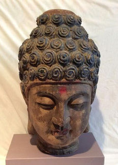Old wooden Buddha