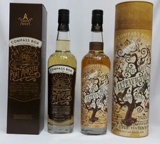 2 bottles - Spice Tree Extravaganza Compass Box 46% & The Peat Monster Compass Box 46% (2x 700ml in original box )