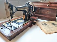 Beautifully decorated antique Kayser sewing machine, early 20th century