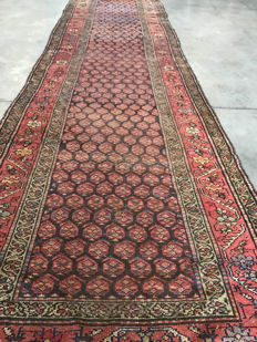 Antique, Persian, Bidjar runner - 107 x 371 cm.