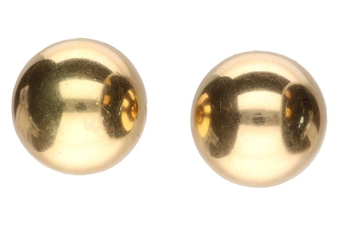 Yellow gold clip on earrings in 14 kt - 20.32 mm
