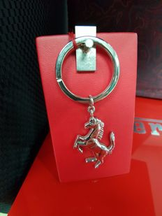 Ferrari Silver and Steel Key Ring