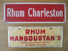 2 old and rare advertising signs for Rhum - France