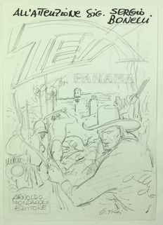 "Ticci, Giovanni - sketch for a cover ""Tex nell'inferno verde"""
