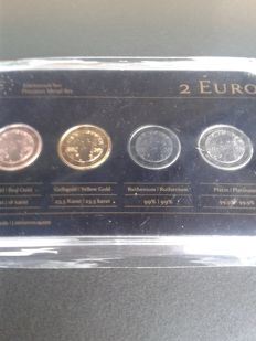 Finland - 2 Euro 'Precious Metal Set' 2013 (4 different coins)