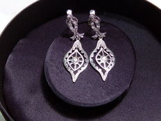 18 kt white gold earrings with zirconias