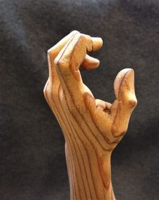 Arm of southern yellow pine wood with a forged base - Spain - 1950s