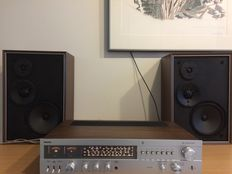 Philips 793 receiver with matching 3 way speakers.