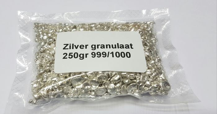 Silver granulate - 250 gr - 999/1000 - sealed