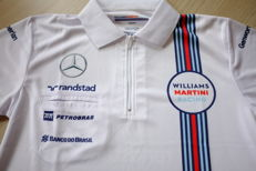 Rare Martini Williams F1 2015 team polo Felipe Massa, Valtteri Bottas