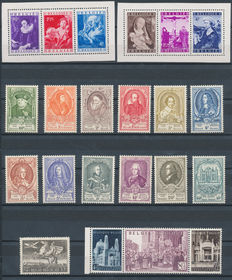 Belgium – 1949/1952 – Selection between OBP 792/79 and 880/891