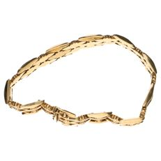 14 kt yellow gold bracelet with fantasy links – Length: 20 cm