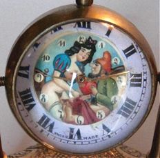 """Clock; Ball watch with erotic show """"snow white and the dwarf""""-20th century"""