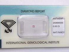**Natural Fancy Pink Diamond 0.05 ct  with IGI cert ***No minimum price***