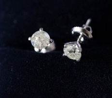Diamond Stud Earrings with a total of 1,16CT with GIE Certificate
