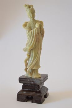 A carved soapstone figure of Guanyin - China - Early 20th Century.