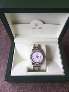 Rolex Date Gold and Steel Men's Wristwatch.